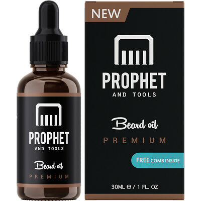 NEW & SEALED Prophet and Tools Beard Oil & Comb Gift Kit, 0% Alcohol All-Organic