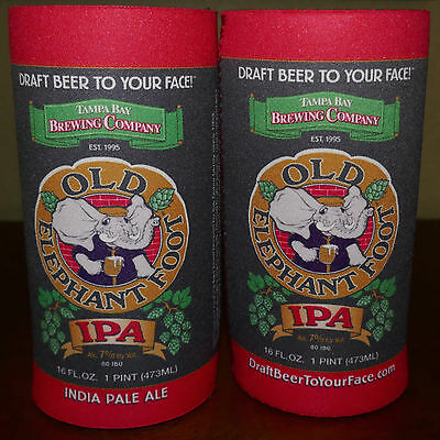 Tampa Bay Brewing Company Old Elephant Foot IPA Koozie Coozy Tall 16 OZ Can New