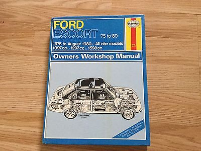 haynes ford escort manual 1975 to August 1980