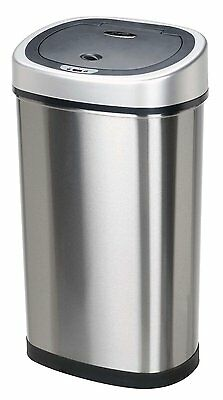 Infrared Touchless Stainless Steel Trash Can 13.2-Gallon NEW Nine Stars DZT-50-9