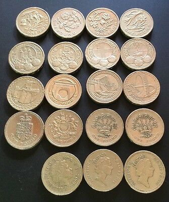 £1 ONE POUND RARE BRITISH COINS, COIN HUNT 1983-2015 uncirculated condition coin