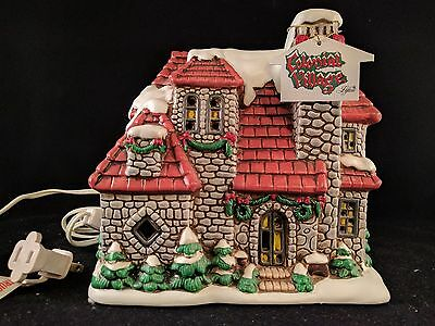Lefton 1987 Christmas Lighted House Hand Painted Geo Z Lefton
