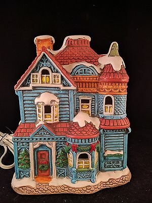 Vintage Lefton Colonial House 1987 House of Blue Gables 06337 Christmas