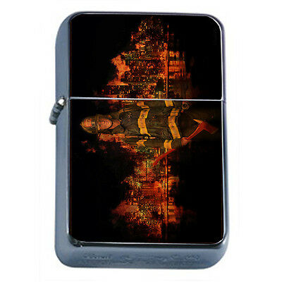 Firefighters D19 Windproof Dual Flame Torch Lighter Refillable Heros