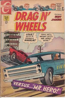Drag  N' Wheels  ~  September Vol.1 No.30 1968 Charlton  Comics Used ~ Good