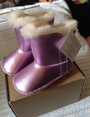 UGG Boots Baby Girl Cassie Bright Pink Metallic 12/18 Months EUR Size 17-18 NWB