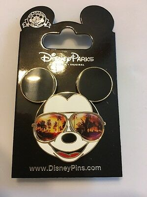 Disney Parks- Mickey Mouse- Sunset Themed Sunglasses-NEW! Trading Pin