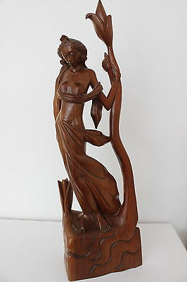 Beautiful Vintage Carved Wooden Asian Figurine