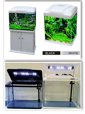 90L Aquarium Nano Fish Tank Tropical or Coldwater with LED Lights