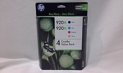 Set Of 4 HP 920XL Genuine Inks  - HIGH YIELD BK/C/M/Y Set / Combo Pack