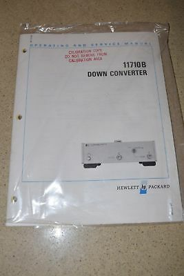 Hewlett Packard 11710B Down Converter Operating & Service Manual (D30)