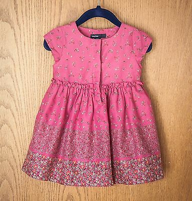 BABY GAP dress size 12-18 months, toddler girl pink floral dress EUC w/ bloomers