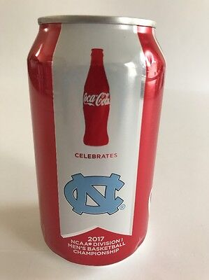 UNC Tar Heels NCAA 2017 National Basketball Champions Coca-Cola 12 Ounce Can