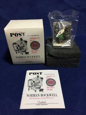 Norman Rockwell Goebel Miniatures Check Up Pewter Figure 1988