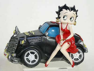 Large 2008 Retired Betty Pop Squad Car Figurine ~ 9""