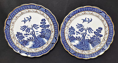 Booths Real Old Willow Blue A8025  Set of 2 Bread & Butter Plates