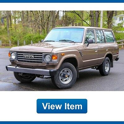 1987 Toyota Land Cruiser Base Sport Utility 4-Door 1987 Toyota Land Cruiser 4WD Manual L6 FJ60 California Clean CARFAX Rare!