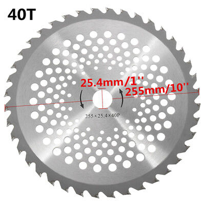 "40 Teeth/Tooth Carbide Blade 25.4mm Bore Diameter 10"" For Brush Cutter Strimmer"