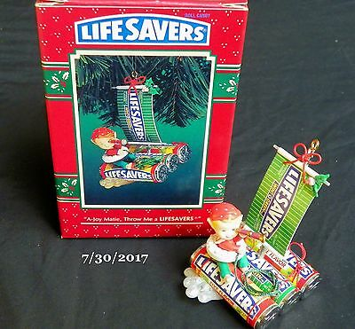 ENESCO A -JOY MATIE, Throw Me a LIFESAVERS CHRISTMAS ORNAMENT Pirate Sailboat