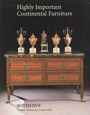Sotheby's Highly Important Continental Furniture London 6/10/98 Sale 8349