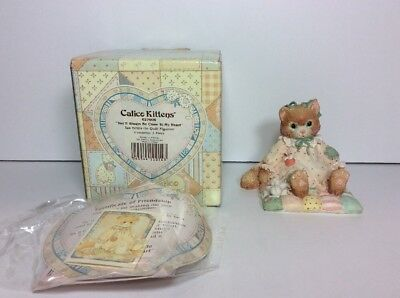 Calico Kittens You'll Always Be Close To My Heart 627909 Hillman 1992 CAT FELINE