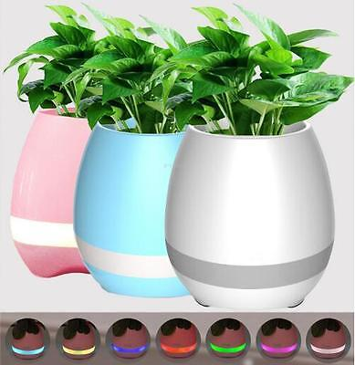 LED Bluetooth Flower Plant Pot Intelligent Touch Playing Colour Changing Light