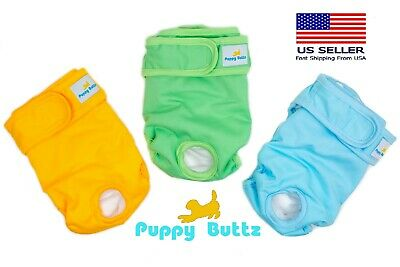 Puppy Buttz Washable, Reusable Dog Diapers, Extra large. Pack of 3