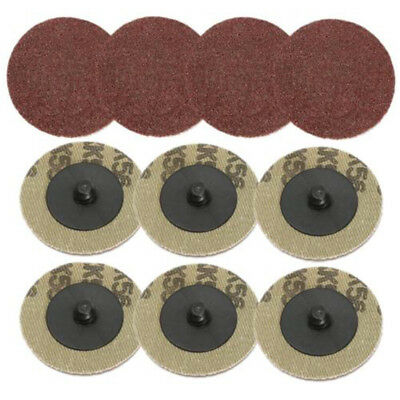 50Pc 2'' 50mm 80 Grit Sanding Disc R Type Roll Lock For Roloc Holder Rotary Tool