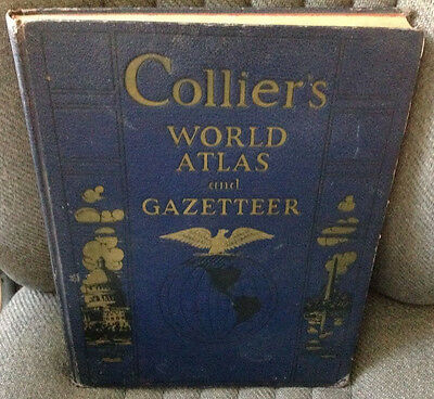 Colliers World Atlas And Gazetteer Copyright 1940