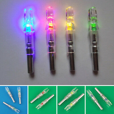 3PCS Shooting LED Lighted Nock Compound Bow Arrow Useful 3Colors Plastic + Metal