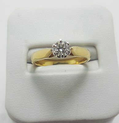 18Ct Yellow Gold Diamond Solitaire Ring Valued @$2405 Comes With Valuation
