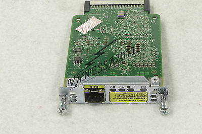 CISCO HWIC-1GE-SFP GigE High Speed WIC With One SFP Slot Tested