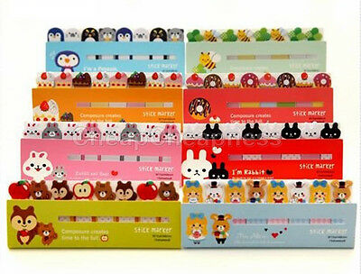 120 Pages Animals Sticker Bookmark Marker Memo Flags Sticky Notes 9C