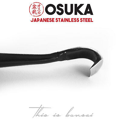 OSUKA Bonsai Carving Tool - Japanese Stainless Steel (Black) Spoon Gouge 8-10mm