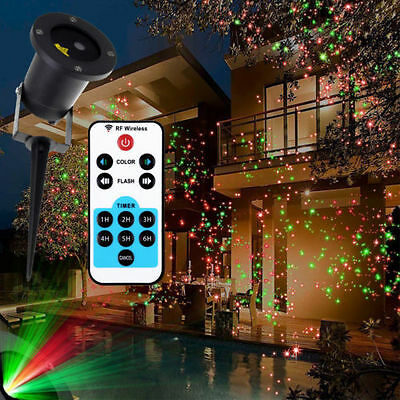 Outdoor Lighting RGB Laser Projector Garden House Lawn Light  Waterproof New