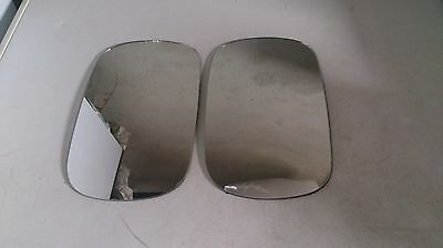 Jcb Loadall Left Hand Cab Mounted Pair Of Curved Mirror Glasses. New £6 + Vat
