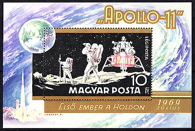 Hungary 1969 The First Manned Moon Landing Apollo 11 Minisheet MNH