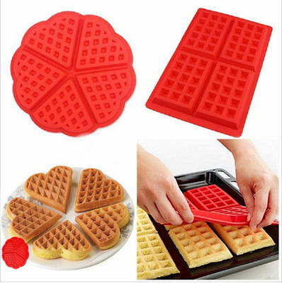 Silicone Round & Square Waffles Pan Cake Baking Mould Mold Waffle Non-stick Tray
