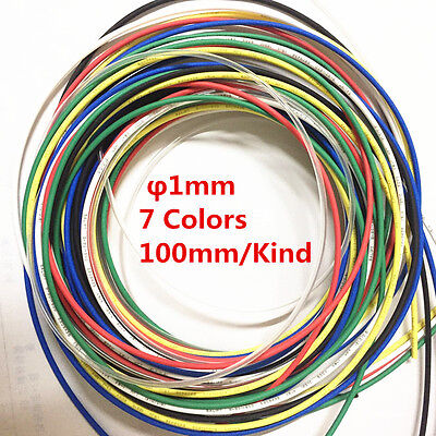 7Pcs 7 Color 1mm Heat Shrink Tubing Tube Sleeving Wrap cable Assorted 2:1