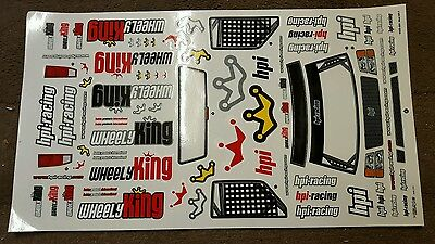 Hpi Wheely King Decal Sheet