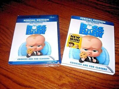 The Boss Baby: Alec Baldwin (Blu-Ray/DVD/Digital HD) Special Ed ] New Fast Ship