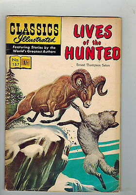 CLASSICS ILLUSTRATED COMIC No. 157 Lives of the Hunted 15c HRN 167