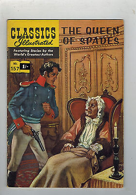 CLASSICS ILLUSTRATED COMIC No. 157 The Queen of Spades HRN 156
