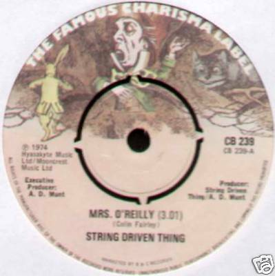 "String Driven Thing ~ Mrs. O'reilly / Keep On Moving ~ 1974 Uk 7"" Single"