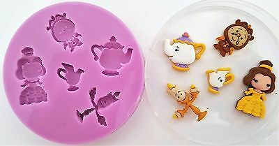 Beauty And The Beast 002 Silicone Mould For Cake Toppers, Chocolate, Clay Etc