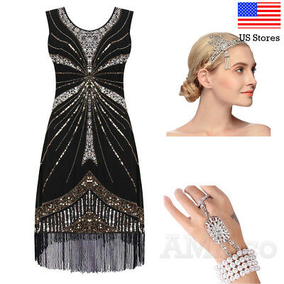 1920s Flapper Gatsby Roaring 20's Costume Party Evening Dresses Cocktail Dress