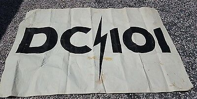 VINTAGE  DC 101 Radio Station banner 6FT x 4FT , Original 80's