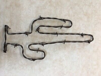"""12"""" Rusty Barb Wire Tall Saguaro Cactus ~ Rustic SW Western Decor Handcrafted"""