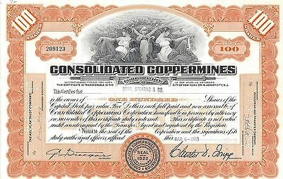 Consolidated Copper Mines Corporation.....1959 Stock Certificate