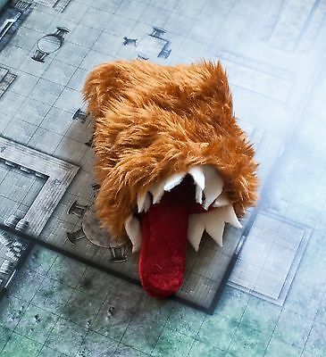 Dice bag of devouring (brown/pink/blue), hand made - gaming - D&D